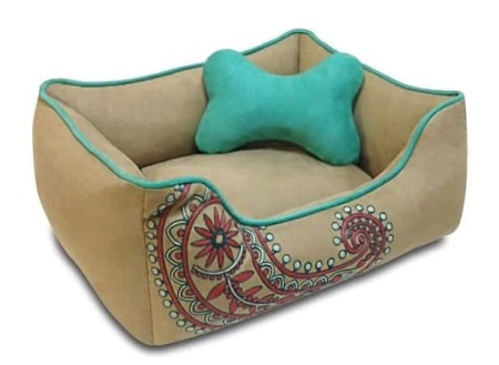 4 Blueberry Pet Premium Microsuede Bed