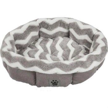 Precision Pet Snoozzy Hip As A Zig Zag Shearling Round Bed