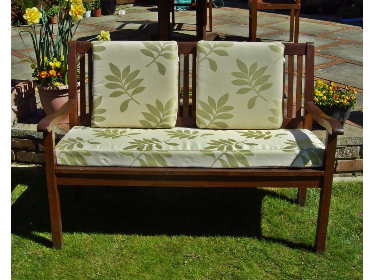 Garden Bench Cushion Set Including Back Pads