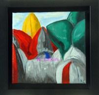 """Achitects of Air: Pentalum at WSU"" 6x6"" framed"