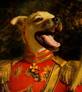 custom regal dog portrait