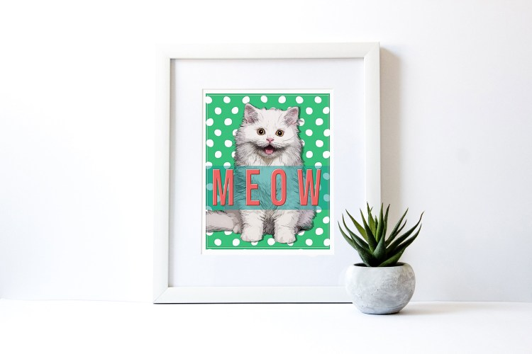 cat art mockup