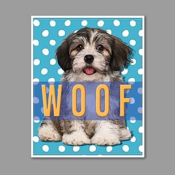 dog woof art