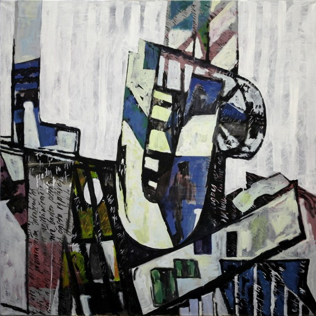 Big City, 2012, acrylic on canvas, 132 x 132 cm | Private collection