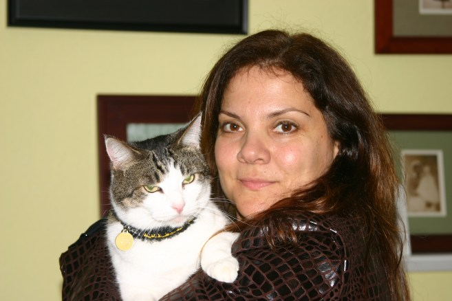 Christi and cat headshot