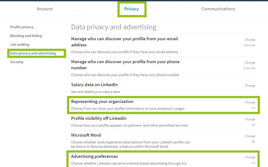 When did you last check your LinkedIn settings and privacy?
