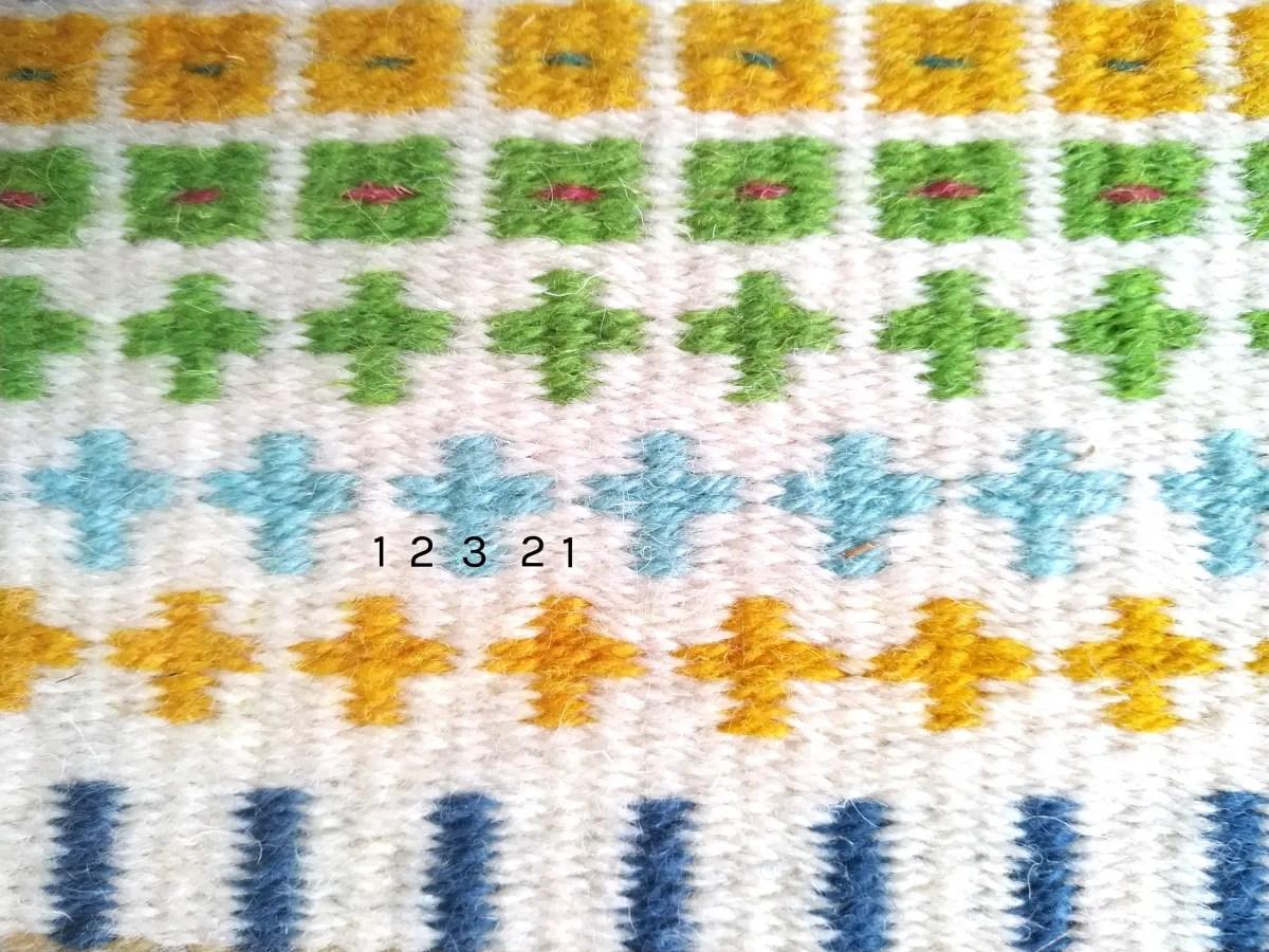 Krokbragd pattern crosses