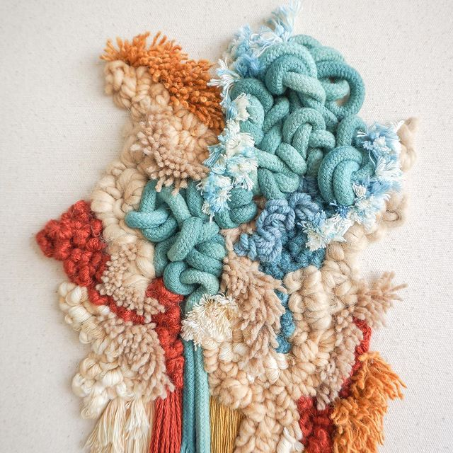 Modern Tapestry_livingfibers wallhanging