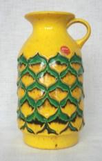 Jasba vase, pineapple like decor, impressed mark: N03313 26