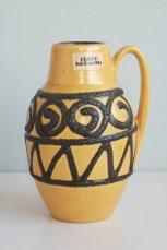 Scheurich handled vase number 414-16 form by Heinz Siery
