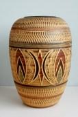 Eiwa or Sawa klinker floor vase 1960's