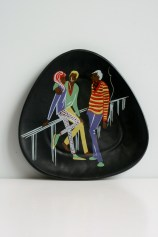 Ü-Keramik wall plate Teenager series design by Ursula Schonhaber 1960