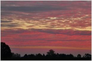 13-November der Sonnenaufgang sehr schön.. dann wieder grau & Regen