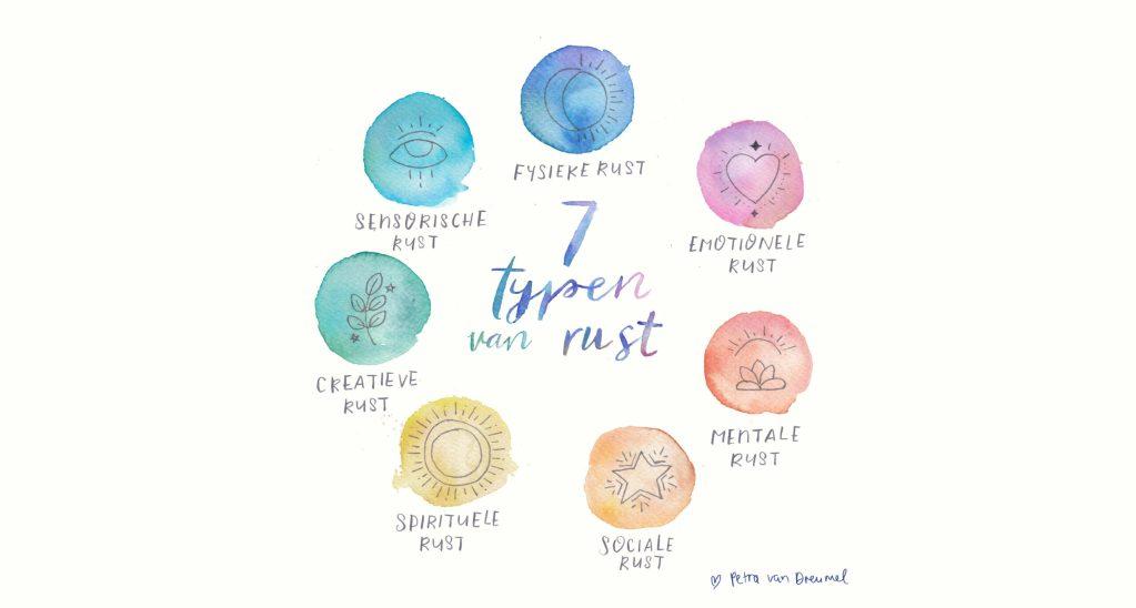 petra van dreumel illustratie 7 typen van rust