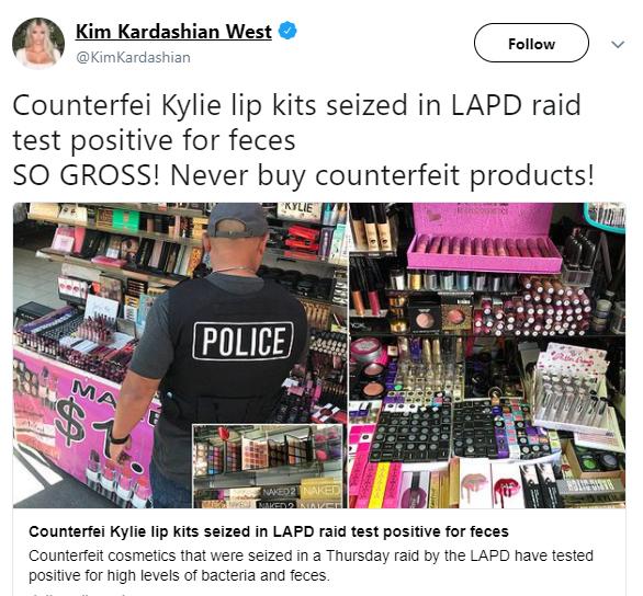 Animal pee in fake make-up