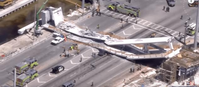Pedestrian bridge collapsed