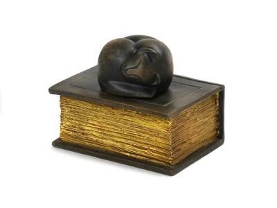 Cat on Book Urn