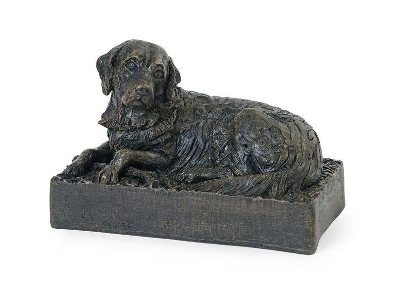 Beautiful figurine Golden Retriever urns for pet dog ashes. Can be personalised.