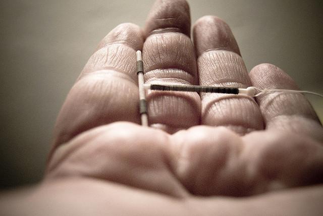 IUD in hand