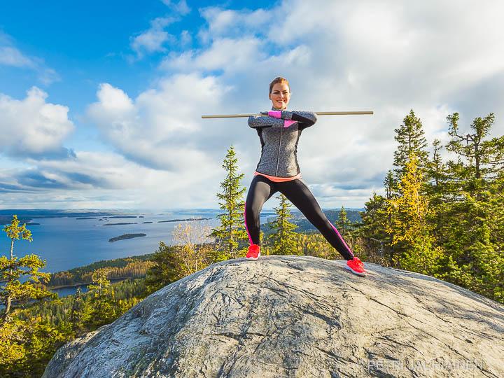 Jumppaa Kolin kansallispuistossa valokuvaaja Petri Jauhiainen Kuopio