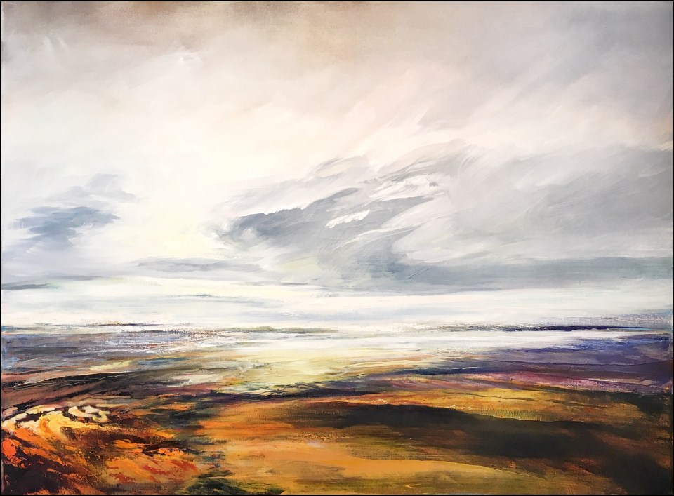Why am I painting? So what is my source of inspiration? My focus? Is it the landscape? Sure. The colours I put down? Yes, they are an inspiration aside from the landscape. 'Soft Light' Finished painting showing a delicate light and softer hues.
