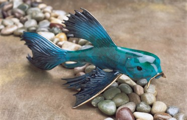 "Big Blue, Medium: Bronze Catalog: BK4 Size: 4.75"" x 11"" x 7.25"" Artist: Frogman"