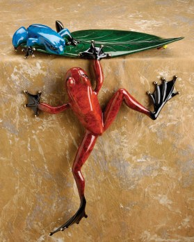 "Cliffhanger, Medium: Bronze Catalog: BF72 Size: 13.25"" x 11.5"" x 7"" Artist: Frogman"