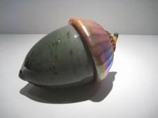 "Giant-Acorn-Sculpture, Medium: Glass Canvas Size: 8"" x 5"" Artist: Cohn-Stone Glass Studios"