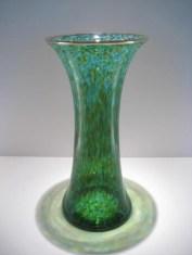"Red-Green-Hourglass-Vase, Medium: Glass Canvas Size: 13"" x 6.5"" Artist: Cohn-Stone Glass Studios"