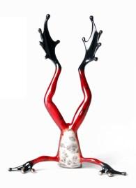 "Head Over Heels , Valentine�s Day Medium: Bronze Release: 2012 Edition: 2000 Catalog: BF156 Size: 4.25"" x 2"" x 6"" Artist: Frogman"