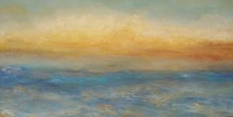 "A-New-Day, Medium: Oil on Rough Linen Size: 24"" x 48"" Artist: Georgeana Ireland"