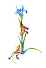 "Iris, Medium: Bronze Release: 2011 Edition: 2000 Catalog: BF148 Size: 11.5"" x 8.75"" x 16.125"" Artist: Frogman"