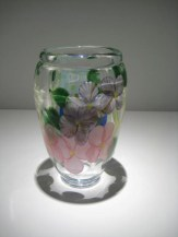 "Bouquet Vase, Medium: Glass Size: 8"" x 4.5"" Artist: Justin and Steven Lundberg #18609 Price: $2,900.00 REDUCED: $1,500.00"