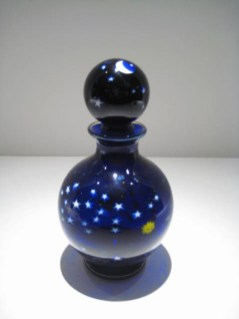"Cosmos-Perfume-Bottle, Medium: Glass Size: 7"" x 3.5"" Artist: Justin and Steven Lundberg"