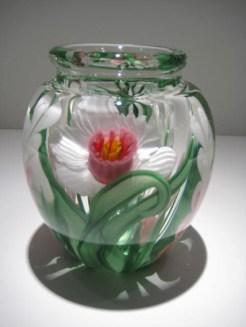 "Medium-Daffodil-Vase, Medium: Glass Size: 6"" x 4.5"" Artist: Justin and Steven Lundberg"