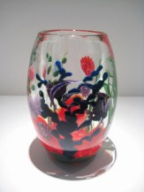 "Reef Vase, Medium: Glass Size: 9.5"" x 6"" Artist: Justin and Steven Lundberg #18290 Price: $3,600.00 REDUCED: $1,750.00"