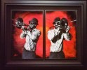 "Duet-Diptych, Medium: Original Acrylic on Canvas Framed Size: 50.5"" x 64.5"" Artist: Shawn Mackey"