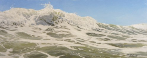 "Sea-Foam, Medium: Oil on Canvas Size: 24"" x 60"" Artist: Tom Nielsen"