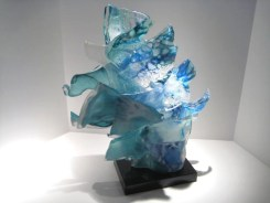 "Horses-Head-Sculpture, Medium: Glass Size: 20"" x 14"" x 6"" Artist: Caleb Nichols"