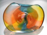 "Point-Break-Wave-Bowl, Medium: Glass Size: 23"" x 20"" x 8"" Artist: Rick Nicholson"