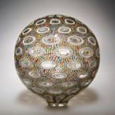 "Multi-Color-Sphere, Medium: Hand-Blown Glass Size: 11"" x 10"" x 10"" Artist: David Patchen #20190"