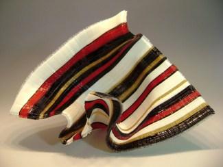 "A-Kiss-is-Still-a-Kiss, Medium: Glass Tapestry Sculpture Size: 19"" x 12"" x 9"" Artist: Carole Perry"
