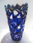 "Cobalt Purple Serpantine Sculpture, Medium: Glass Size: 19"" x 9"" Artist: Tom Philabaum #1P8159 Price: $5,500.00 REDUCED: $3,500.00"