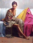 "Carmen-de-Merimee, Medium: Original Oil on Panel Size: 36"" x 28"" Artist: Gabriel Picart #20249"