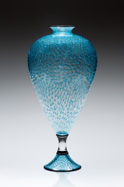 Teal-Splash, Medium: Glass Size: Artist: Kenny Pieper