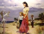 """Birds-of-Paradise, Medium: Hand Embellished Giclee Size: 40"""" x 30"""" Artist: Pino"""