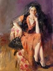 "Dreaming-Madrid, Medium: Hand Embellished Giclee Size: 40"" x 30"" Artist: Pino"