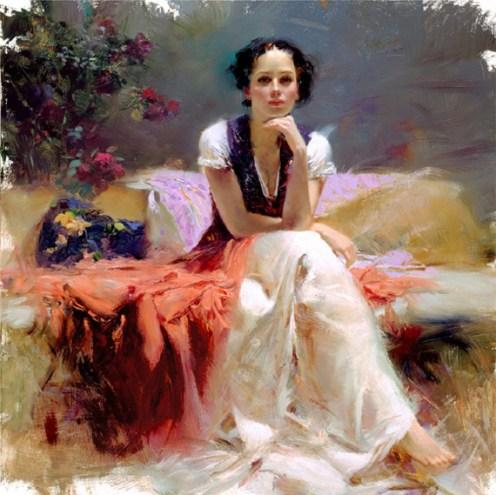 "First-Glance, Medium: Hand Embellished Giclee Size: 28"" x 28"" Artist: Pino"