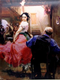 "Gypsy-Dancer, Medium: Hand Embellished Giclee Size: 40"" x 30"" Artist: Pino"