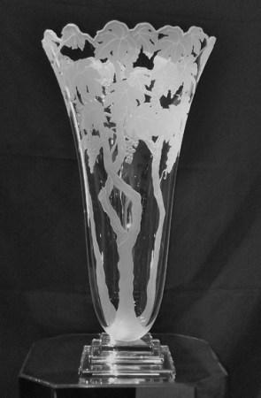 """La-Vid-Vase, Medium: Hand-blown Glass Size: 24"""" x 12"""" x 12"""" Artist: Stephen Schlanser"""